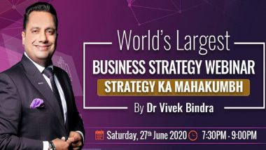 MSME Day 2020: Bada Business CEO Dr Vivek Bindra to Attempt to Create Record of Holding World's Largest Business Strategy Webinar on YouTube on June 27