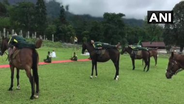 International Yoga Day 2020: ITBP Personnel of Animal Training School Perform Yoga with Horses, View Pics
