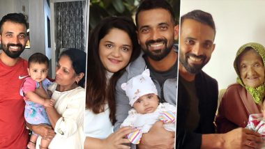 Ajinkya Rahane Birthday Special: 10 Pictures of India's Test Vice-Captain That Will Give You Family Goals