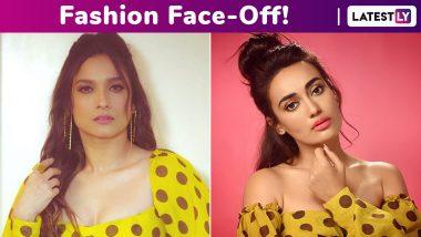 Fashion Face-Off: Ankita Lokhande or Surbhi Jyoti? Who Wore the Rishi & Soujit Polka Dot Crop Top Better?