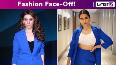 Fashion Face-Off: Sanya Malhotra or Hansika Motwani? Whose Appapop Blue Pantsuit Style Was Chicer?