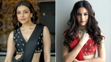 Fashion Face-Off: Amyra Dastur or Kajal Aggarwal? Who Wore the Contemporary Festive Devnaagri Gharara Better?