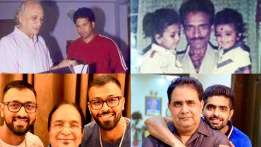 Father's Day 2020 Wishes: Sachin Tendulkar, Rohit Sharma, Hardik Pandya and Others From Sports Fraternity Share Memorable Moments With Their Dads