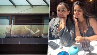 Gauri and Suhana Khan Spotted Enjoying Mumbai's Monsoon on Mannat's Balcony (View Pics)