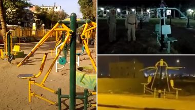 Video Of Ghost Swinging On Gym Equipment From Kanshiram Park In