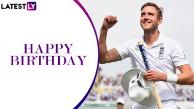 Stuart Broad Birthday Special: 8/15 vs Australia and Other Magnificent Performances by Veteran England Pacer As He Turns 34