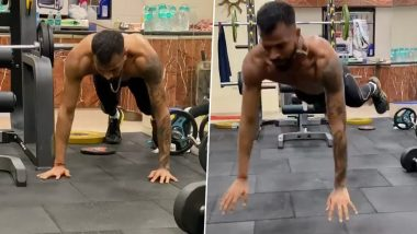 Hardik Pandya Challenges Brother Krunal in Latest Workout Video (View Post)