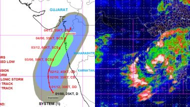 Nisarga Cyclone Latest Update: Depression Moves Closer to Goa, Mumbai and Surat, Likely to Cross Harihareshwar & Daman on June 3