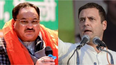 JP Nadda Slams Rahul Gandhi for Criticising the Abrogation of Article 370, Asks 'Whether He Is Representing India or Pakistan'