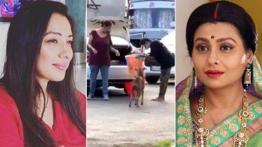Good Samaritans Rupali Ganguly and Jaya Bhattacharya Feed Stray Dogs In Filmcity (Watch Video)