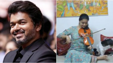 Thalapathy Vijay Birthday: Keerthy Suresh Plays the Violin to Give a Special Tribute to the Superstar As She Sends Her Warm Wishes (Watch Video)