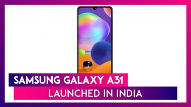 Samsung Galaxy A31 Smartphone Featuring a 5,000mAh Battery Launched in India; Price, Variants, Features & Specifications