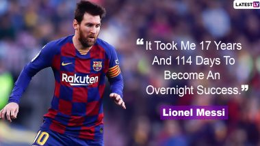 Lionel Messi Quotes With HD Images: 10 Powerful Sayings by Barcelona Great on Success and Life to Celebrate His 33rd Birthday