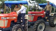 MS Dhoni Enjoys Tractor Ride at His Ranchi Farmhouse Amid COVID-19 Lockdown (Watch Video)