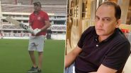 'Timing It Like Old Times': Mohammad Azharuddin Rolls Back the Years and Picks Up a Cricket Bat Again (Watch Video)