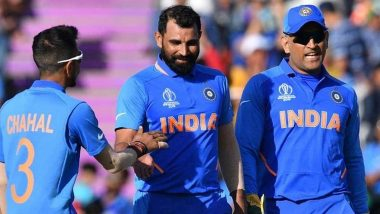 Mohammed Shami Misses Late Night Chats and Dinner With MS Dhoni, Says 'I Have a Lot of Memories About Him'