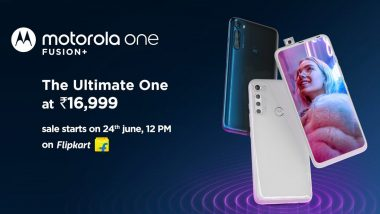 Motorola One Fusion Plus With Snapdragon 730G Launched in India at Rs 16,999; to Go on Sale From June 24 via Flipkart
