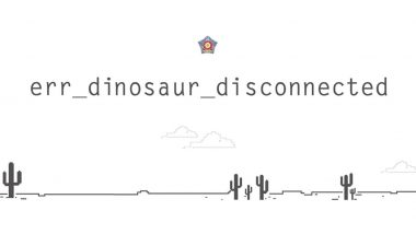 Mumbai Police Says Dino in Google's T-Rex Game Is Snoring During COVID-19 Pandemic Urging Mumbaikars to Stay Home