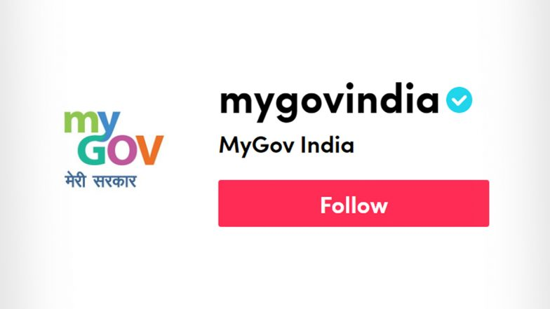 MyGovIndia TikTok Account: Here is The Official TikTok Profile Link of Government of India, Don't fall for Fake Ones on The Chinese Video Sharing App