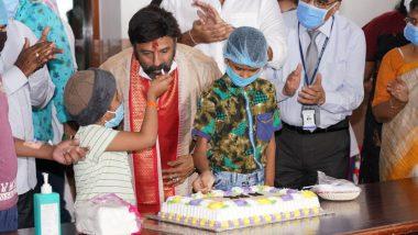 Nandamuri Balakrishna Celebrates His 60th Birthday With Kids at Basavatarakam Cancer Hospital (View Pics)