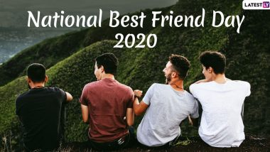 Missed Sending National Best Friend Day 2020 Wishes & HD Images? Say Belated Happy BFF Day With These WhatsApp Stickers, GIF Greetings and Hike Messages