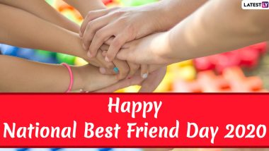 National Best Friend Day 2020 Wishes & HD Images: WhatsApp Stickers, GIF Greetings, Bestfriends Facebook Messages, BFF Quotes and SMS to Send to Your Best Friends