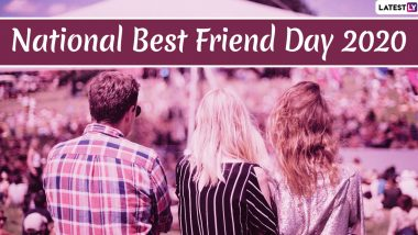 Happy National Best Friend Day 2020 Greetings & Wallpapers: WhatsApp Stickers, HD Images, Facebook Quotes, GIFs & SMS to Send to Your BFF