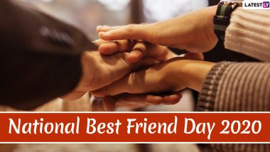 Happy National Best Friend Day 2020 Messages: WhatsApp Stickers, GIF Images, Friendship Quotes, Greetings and SMS to Send Wishes to Your BFF