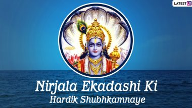 Nirjala Ekadashi Vrat 2020 Wishes in Hindi & HD Images: WhatsApp Messages, SMS, Quotes, Stickers & Facebook Greetings to Celebrate Lord Vishnu Festival