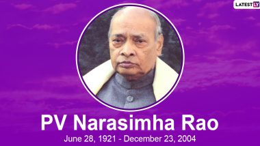 PV Narasimha Rao Birth Anniversary: Interesting Facts About Former Prime Minister of India, a Scholar And Linguist
