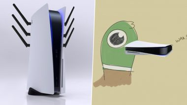PS5 New Look Inspires Funniest Memes; From WiFi Router to Duck's Beak, People Draw Hilarious Comparisons With PlayStation 5 Design