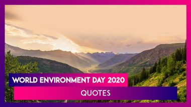 World Environment Day 2020 Quotes: Share Beautiful Sayings on the Day Dedicated to Mother Nature