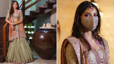 Rana Daggubati And Miheeka Bajaj's Pre-Wedding Celebrations Kick-Off: The Bride-to-Be Looks Resplendent in Her Jewelled Masked Avatar (View Pics)