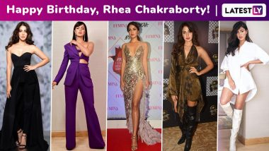 Rhea Chakraborty Birthday Special: Chic, Classy but a Distinct Element of Risque Sums Up This Bong Bombshell's Vibe!
