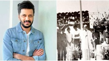 Riteish Deshmukh Wishes Mithun Chakraborty on His Birthday With an Old Black and White Pic, Calls Him His 'Favourite Superstar' (View Post)