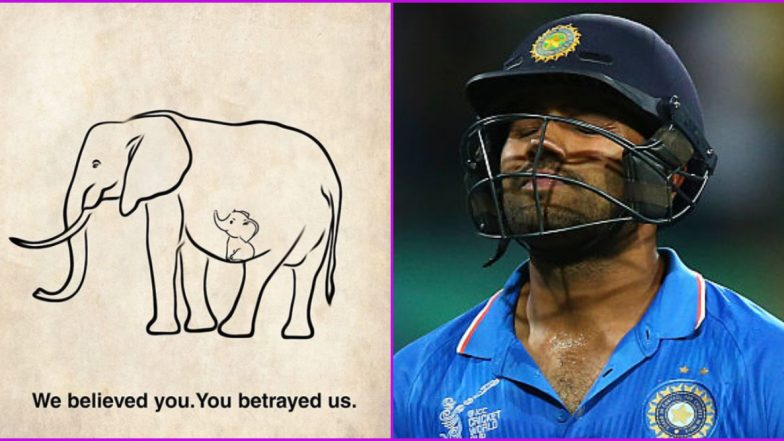 Heartbroken Rohit Sharma Takes to Social Media Over the Killing of Pregnant Elephant in Kerala, Says 'We Are Savages'