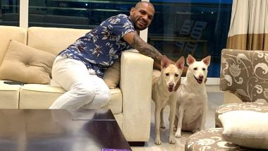 Shikhar Dhawan Welcomes Two New 'Family Members' As He Shares Picture With Adopted Dogs (View Post)