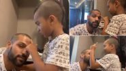 Shikhar Dhawan Gets 'In House Make Up' by His Son Zoravar Amid COVID-19 Lockdown (Watch Video)