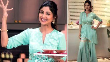 Shilpa Shetty Stuns in an Embellished Sharara for Eid Al-Fitr Worth Rs. 43,500!