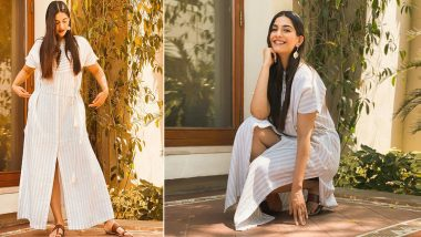 Sonam Kapoor Ahuja Is Basking in the Golden Hour of the Day Wearing a Striped Kaftan Dress!