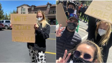 Joe Jonas and Sophie Turner Attend Black Lives Matter Protests; The Game Of Thrones Star Chants 'No Justice, No Peace' (View Pics and Videos)