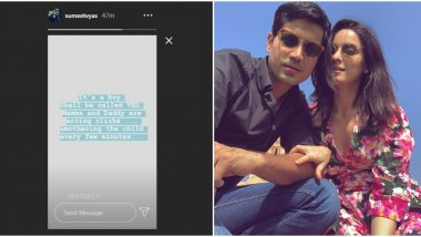 Sumeet Vyas and Ekta Kaul Welcome Baby Boy Ved, Share A Heart-Warming Post (View Post)