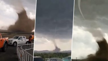 Monster Tornado in China! Video Shows Drivers Filming Violent Wind Sweeping Near Xilinhot in Inner Mongolia