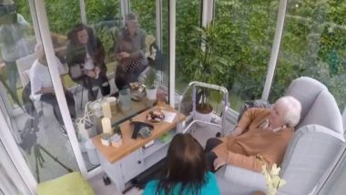 UK Care Home Installs Social Distancing Glass Pods For People to Meet their Family, Friends And Loves Ones (Watch Heartwarming Videos)