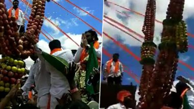 Karnataka Health Minister B Sriramulu Takes Part in Procession in Chitradurga, Watch Video to See How Social Distancing Norms Were Violated