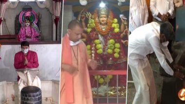 UP CM Yogi Adityanath, BJP MP Manoj Tiwari & Other Political Leaders Offer Prayers as Religious Places Open Today, View Pics