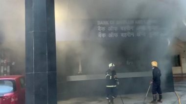 Mumbai Fire: Blaze Breaks Out at a Bank in Nariman Point, Firefighting Ops Underway
