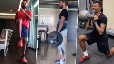 Virat Kohli, Hardik Pandya, Shikhar Dhawan & Other Indian Cricketers' Home Workout Regime During Lockdown Will Give You Major Fitness Goals (Watch Videos)