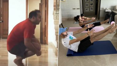 International Day of Yoga 2020 in Pics: Virender Sehwag, Harbhajan Singh and Other Members of Cricket Fraternity Share Photos and Videos of Performing Yoga at Home