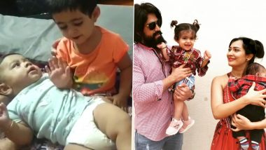Yash and Radhika Pandit's Daughter Ayra Singing Lullaby to Her Baby Brother Is the Cutest Video You'll See Today!